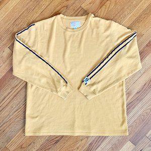 Lucky Brand Mustard Race Striped Sleeve Shirt